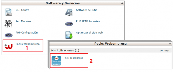 como instalar wordpress webempresa